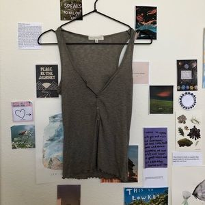 Urban Outfitters Gray Ribbed Tank Top